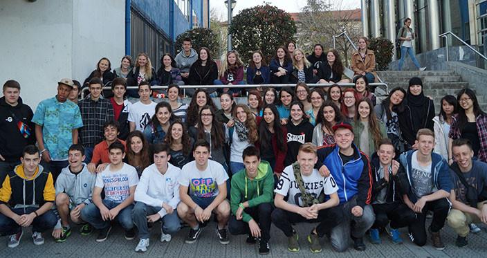 Baskiske og danske elever på tur sammen