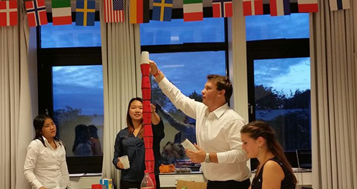 2i Dinner 2014 - Cup stacking competition