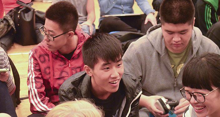 Kinesiske elever til morgensamling