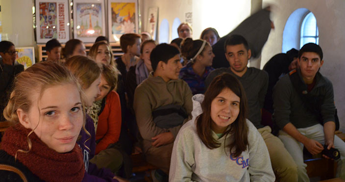 Introduction at Christiania - attentive students