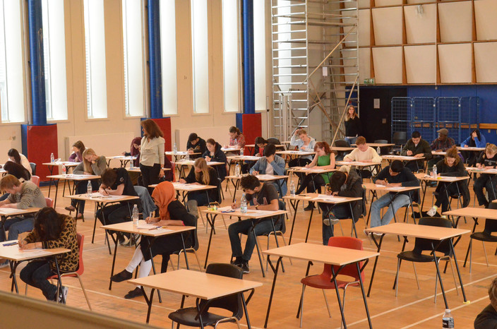 3i students sitting their final exams in 2014